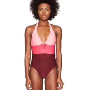 Kate Spade Tangine Pink Cruise Halter Swimsuit